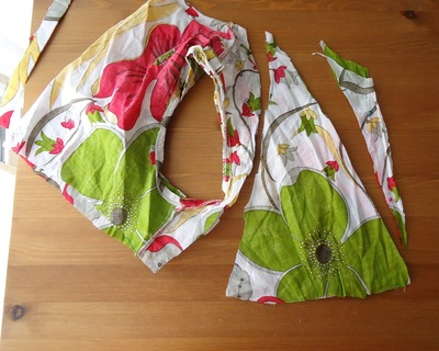 How to recycle a shirt into a dress. Beach Dress From Shirt Dress - Step 2