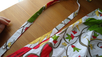 How to recycle a shirt into a dress. Beach Dress From Shirt Dress - Step 3