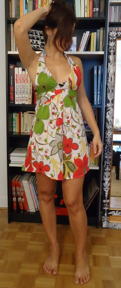 How to recycle a shirt into a dress. Beach Dress From Shirt Dress - Step 6