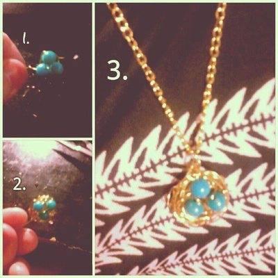 How to make a wire necklace. Bird Nest Pendant & Ring - Step 1