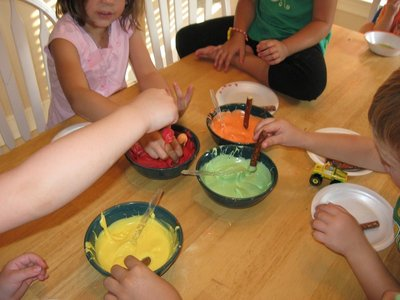 How to make a chocolate. Edible Crayons - Step 3