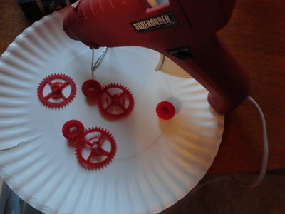 How to make a pair of hardware earrings. Steam Punk Earings - Step 5