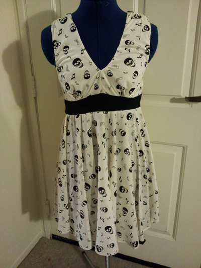 How to make a strapless dress. Death Tones - Step 20