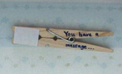 How to make a recycled card. Clothespin Message - Step 3