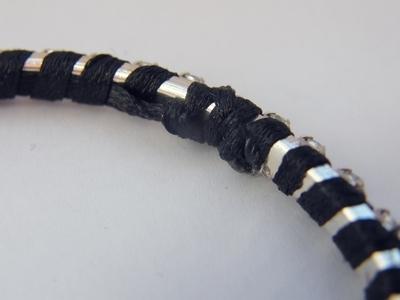 How to make a wrapped bangle. Wrapped Rhinestone Bangle - Step 3