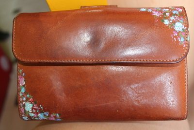 How to sew a leather pouch. Vintage Purse - Step 2