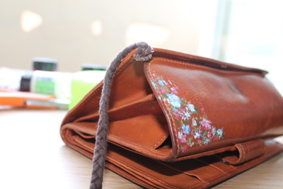 How to sew a leather pouch. Vintage Purse - Step 3