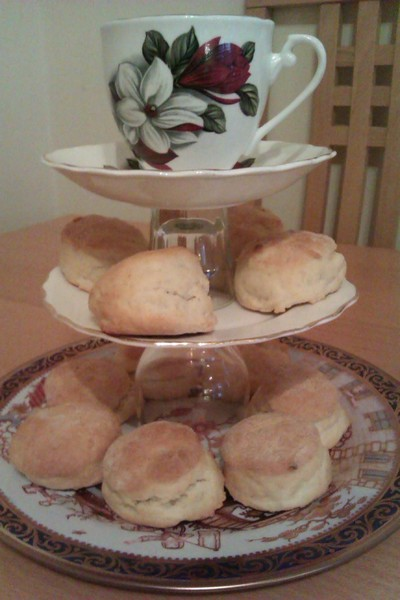 How to bake a biscuit / scone. Lemonade Scones - Step 4
