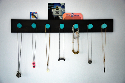 How to make a hook or hanger. Ombre Necklace Rack - Step 5