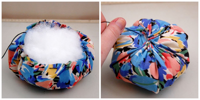 How to make a tea cup pin cushion. Hand Painted Teacup Pincushions - Step 5
