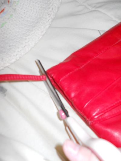 How to make a clutch. Studded Clutch Refashion - Step 2