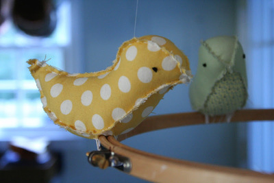 How to make a mobile. Bird Mobile - Step 6