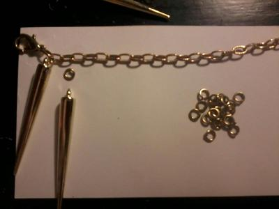 How to make a spike necklace. Spike Necklace - Step 2
