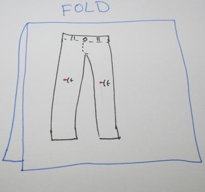 How to sew a scalloped hem skirt. Scalloped Skirt - Step 2