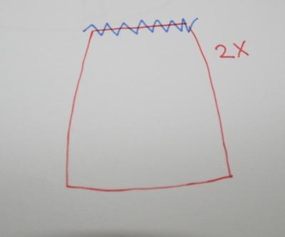 How to sew a scalloped hem skirt. Scalloped Skirt - Step 4
