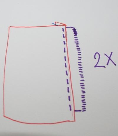 How to sew a scalloped hem skirt. Scalloped Skirt - Step 7