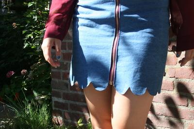 How to sew a scalloped hem skirt. Scalloped Skirt - Step 12
