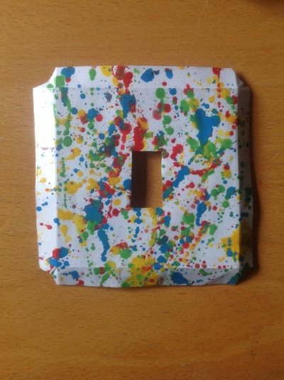 How to make a light switch. Splat Light Switch Cover - Step 7
