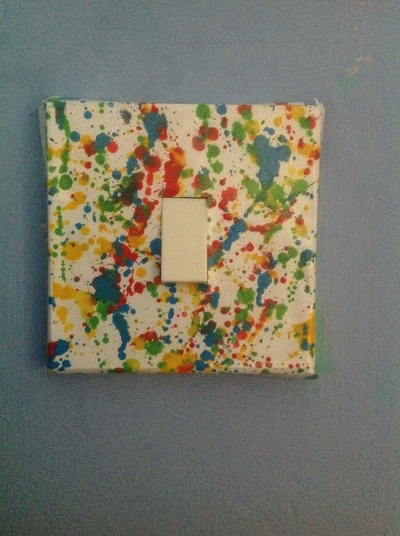 How to make a light switch. Splat Light Switch Cover - Step 8