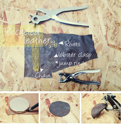 How to make a leather necklace. Semi Circle Leather Necklace - Step 1