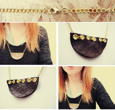 How to make a leather necklace. Semi Circle Leather Necklace - Step 3