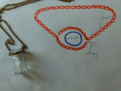 How to make a vial. Prince Of Persia Sands Of Time Inspired Necklace - Step 2