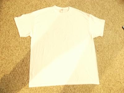 How to sew a t-shirt dress. Men's 3x L T Shirt Into A Cute Backless Dress - Step 2
