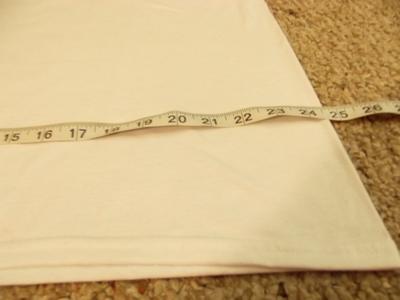 How to sew a t-shirt dress. Men's 3x L T Shirt Into A Cute Backless Dress - Step 3