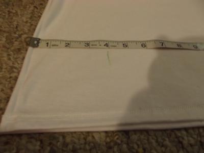 How to sew a t-shirt dress. Men's 3x L T Shirt Into A Cute Backless Dress - Step 4