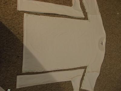 How to sew a t-shirt dress. Men's 3x L T Shirt Into A Cute Backless Dress - Step 6