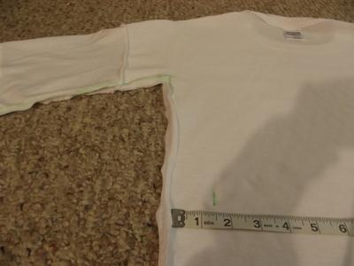 How to sew a t-shirt dress. Men's 3x L T Shirt Into A Cute Backless Dress - Step 7