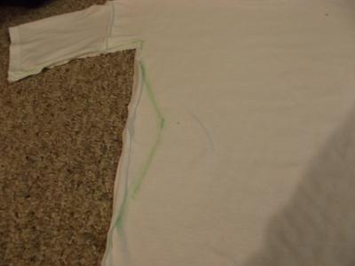 How to sew a t-shirt dress. Men's 3x L T Shirt Into A Cute Backless Dress - Step 8