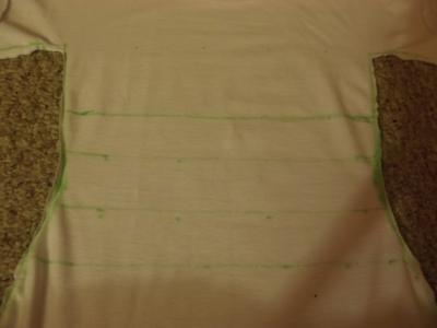 How to sew a t-shirt dress. Men's 3x L T Shirt Into A Cute Backless Dress - Step 9