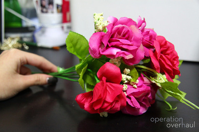 How to make a floral headband. Lana Del Rey Inspired Floral Headband - Step 2
