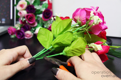 How to make a floral headband. Lana Del Rey Inspired Floral Headband - Step 3