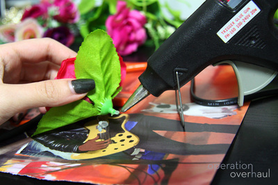 How to make a floral headband. Lana Del Rey Inspired Floral Headband - Step 5
