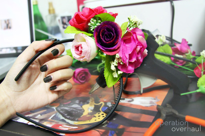 How to make a floral headband. Lana Del Rey Inspired Floral Headband - Step 6