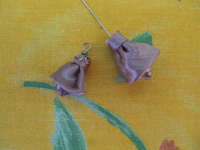 How to make a tassel necklace. Fabric Bell Flower Necklace - Step 8