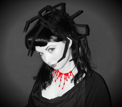 How to make an animal hat. Halloween Spider Fascinator  - Step 10