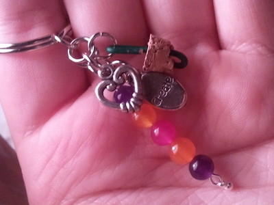How to make a vial charm. Message Keyring - Step 6