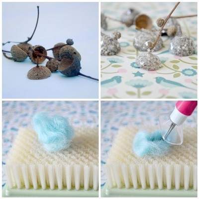 How to create art / a model. Needle Felted Acorns - Step 1