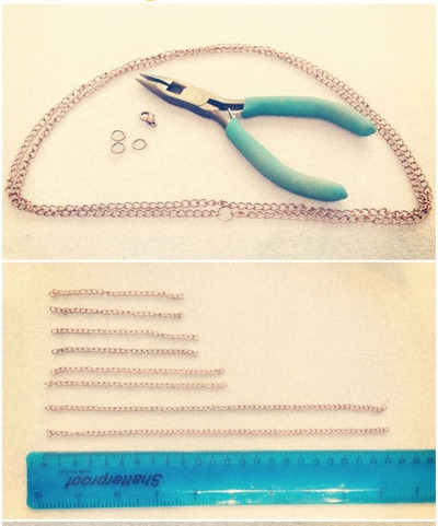 How to make a chain collar necklace. Peter Pan Chain Collar - Step 1