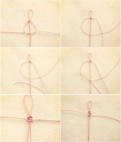 How to make a braided bead necklace. Macrame Bracelet - Step 4
