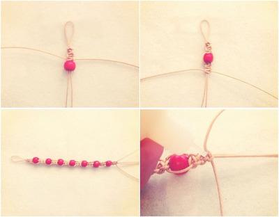How to make a braided bead necklace. Macrame Bracelet - Step 5