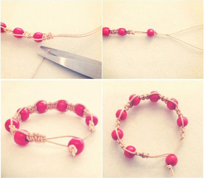 How to make a braided bead necklace. Macrame Bracelet - Step 6