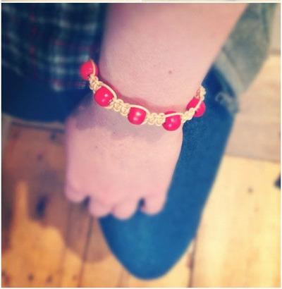 How to make a braided bead necklace. Macrame Bracelet - Step 7