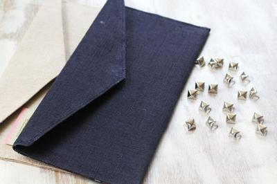 How to make a clutch. Diy Studded Clutch - Step 1