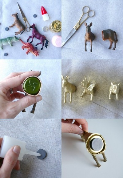 How to make a toy magnet. Party Animal Magnets - Step 1