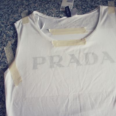 How to make an embellished top. Prada Chain Vest Top - Step 3