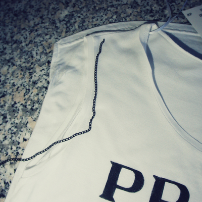 How to make an embellished top. Prada Chain Vest Top - Step 7